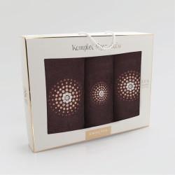 ILUZJA - Komplet trzyczęściowy  Gorzka czekolada(HAFT)